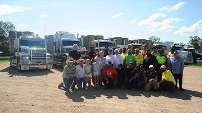 مسلمانان استرالیایی صدها تن یونجه به کشاورزان خشکسالی زده اهدا کردند
