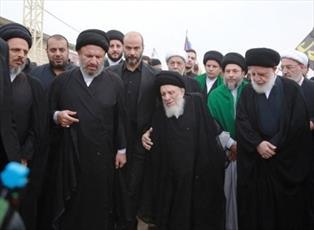 حضور آیت الله العظمی حکیم در پیاده روی اربعین حسینی+ تصاویر