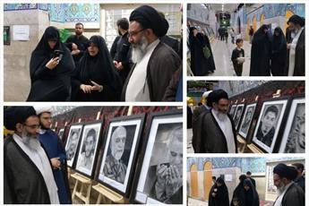 """بازدید نماینده رهبر انقلاب  از نمایشگاه """"شیرین تر از عسل"""" درحرم حضرت زینب(س)"""