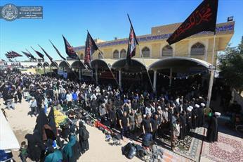 برپایی بزرگ ترین نماز جماعت وحدت در مسیر پیاده روی اربعین + تصاویر