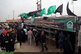 تصاویر/خدمت رسانی موکب علی بن جعفر قم به زائران در سامرا