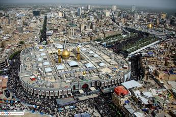 تصاویر هوایی از حال و هوای کربلا در ایام اربعین  امام حسین(ع)