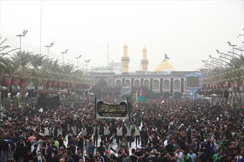 عزاداری موکب های حسینی در بین الحرمین کربلا آغاز شد+ تصاویر
