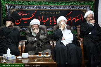 تصاویر/ شب دوم مراسم عزاداری اباعبدالله الحسین(ع) در منزل آیت الله مقتدایی