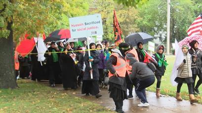 شیعیان شهر آمریکایی پنسیلوانیا «راهپیمایی اربعین» برگزار کردند