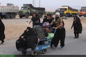 تصاویر/ بازگشت زائران اربعین حسینی از مرز مهران