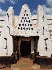 چشم اندازی از قدیمی ترین مسجد در کشور آفریقایی غنا + تصاویر