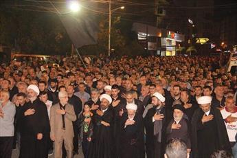 مراسم اربعین حسینی در شهر نبطیه لبنان برگزار شد+ عکس