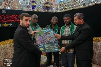 تشرف هیئتی از شیعیان کامرون به زیارت حرم امیرالمؤمنین(ع)+تصاویر