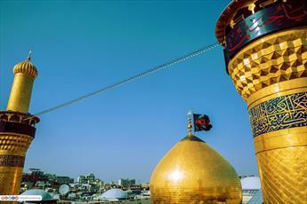 تصاویر/ گنبد و گلدسته های حرم حضرت اباعبدالله الحسین(ع)