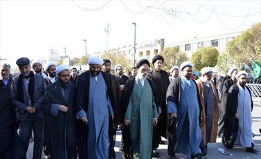تصاویر/ حضور حوزویان مشهد در راهپیمایی ۱۳ آبان