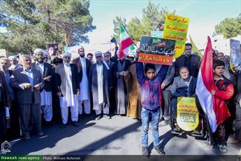 تصاویر/ حضور روحانیون شیعه و اهل سنت بیرجند در راهپیمایی ۱۳ آبان