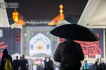 تصاویر/ هوای  بارانی در حرم امیرالمؤمنین(ع)