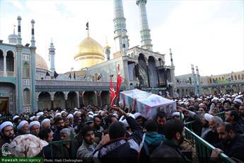 تصاویر/ مراسم تشییع پیکر  شهید مدافع حرم حجت الاسلام والمسلمین محمدحسن دهقانی