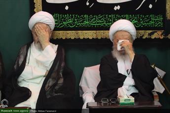 تصاویر/ مراسم سوگواری رحلت نبی مکرم اسلام و سبط اکبرش در بیوت مراجع و علما-۲