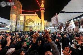 حضور دسته های عزاداری در جوار حرم حضرت امیرالمومنین(ع)+ تصاویر