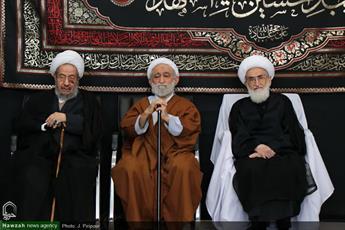 تصاویر/ مراسم سوگواری شهادت امام هشتم (ع) در بیوت مراجع و علما