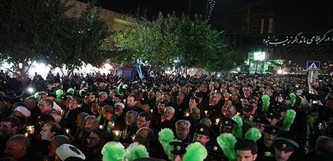 آئین سنتی شام غریبان امام رئوف در حرم مطهر رضوی برگزار شد