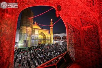 جلوه ای زیبا از نماز جماعت در حرم حضرت امیرالمومنین (علیه السلام)+ تصاویر