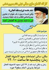 """کارگاه """"گفتمان سازی مبانی دینی نظام اسلامی"""" برگزار می شود"""