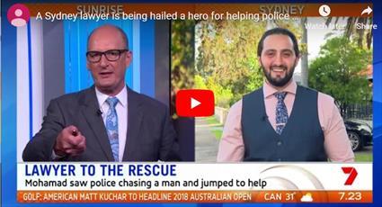 وکیل مسلمان استرالیایی در دستگیری دزد فراری به پلیس کمک کرد