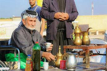 خدمت رسانی موکب های حسینی به زائران عسکریین(ع)+تصاویر