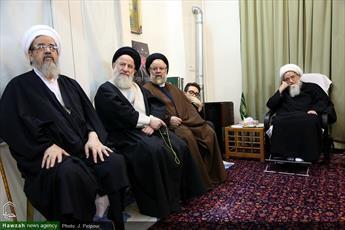 تصاویر/ مراسم سوگواری شهادت امام حسن عسکری(ع) در  بیوت مراجع و علما
