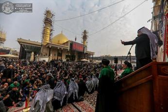 حضور دسته های عزاداری در حرم امامین عسکریین (ع)+ تصاویر
