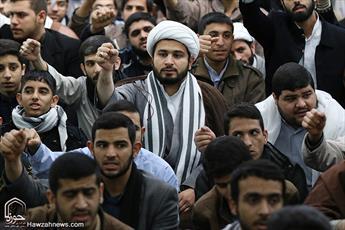 تجمع حوزویان در دفاع از مردم مظلوم یمن در مدرسه فیضیه  برگزار می شود