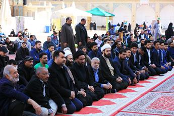 برگزاری مراسم تاج گذاری حضرت بقیه الله الاعظم(عج) در حرم امامین عسکریین(ع)+ تصاویر