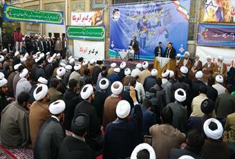 تجمع حوزویان  در حمایت از مردم یمن   آغاز شد