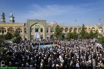خروش دوباره  مدرسه فیضیه علیه آل سعود؛ کشتار مردم یمن را متوقف کنید