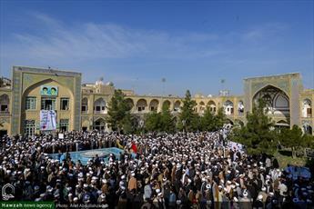 تصاویر/ تجمع حوزویان در حمایت از مردم مظلوم یمن