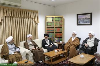 تصاویر/ دیدار اعضای شورای عالی حوزه با آیت الله العظمی سبحانی