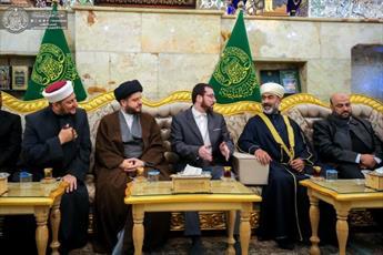 تشرف گروهی از علمای اهل سنت عراق به حرم امیر المومنین (ع)+تصاویر