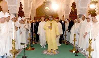 مراسم مولد النبی(ص) در مسجد اعظم رباط پایتخت مراکش برگزار شد