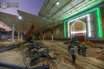 آستان مقدس علوی کار بازسازی صحن رسول اکرم (ص) را آغاز کرد +تصاویر