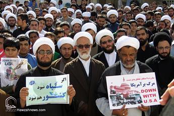 روحانیون و طلاب یزدی جنایات آل سعود در یمن را محکوم کردند