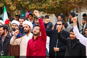 تصاویر/ تجمع طلاب و روحانیون  یزدی در حمایت از مردم مظلوم یمن