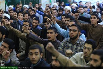 تجمع طلاب حوزه علمیه اهواز در محکومیت کشتار شیعیان قندهار