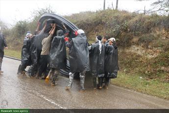 تصاویر/ اردوی سازندگی طلاب غیرایرانی در روستای لیسه مازندران