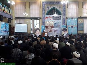 تصاویر/ تجمع  طلاب و روحانیون حوزه همدان در حمایت از مردم مظلوم یمن