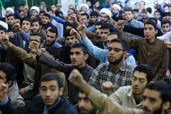 تصاویر/ تجمع حوزویان اهواز در محکومیت جنایات آل سعود و حمایت از مردم مظلوم یمن