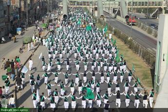 تصاویر/ راهپیمایی اتحاد امت اسلامی حوزه علمیه عروة الوثقی در لاهور پاکستان