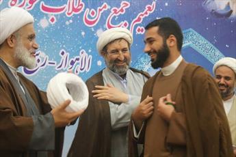 مراسم عمامه گذاری طلاب مدرسه علمیه امام حسین(ع) برگزار شد+عکس
