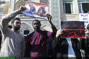 طلاب و روحانیون  اصفهان در حمایت از مردم یمن تجمع می کنند