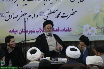 تصاویر/ گردهمایی طلاب و فضلای شهرستان میانه