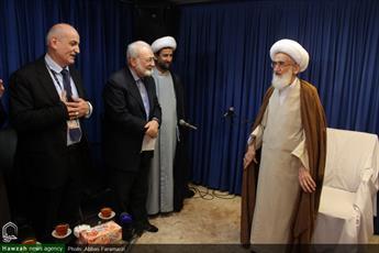 تصاویر/ دیدار جمعی از میهمانان کنفرانس وحدت اسلامی با  آیت الله العظمی نوری همدانی