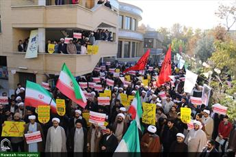 تصاویر/ تجمع طلاب و روحانیون حوزه اصفهان در حمایت از مردم یمن
