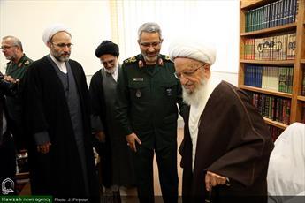 تصاویر/ دیدار رئیس سازمان بسیج مستضعفین با مراجع و علما